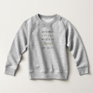 感動的な心配および恵み|のスエットシャツ スウェットシャツ