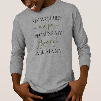 感動的な心配および恵み|の袖のワイシャツ Tシャツ