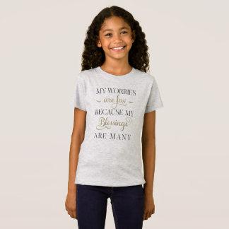 感動的な心配および恵み|ジャージーのワイシャツ Tシャツ