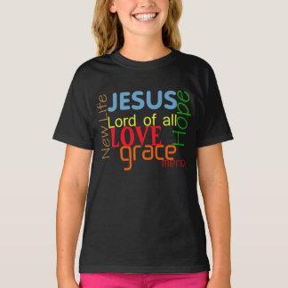 """感動的な恵み""""すべての""""のワイシャツのイエス・キリスト主 Tシャツ"""