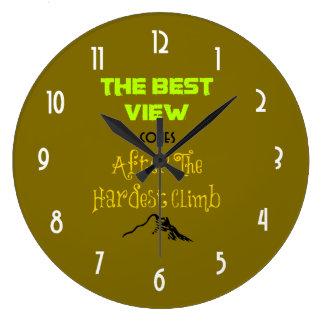感動的な意欲を起こさせる引用文のタイポグラフィ ラージ壁時計