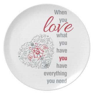 感動的な愛ある何が-引用するため時 プレート