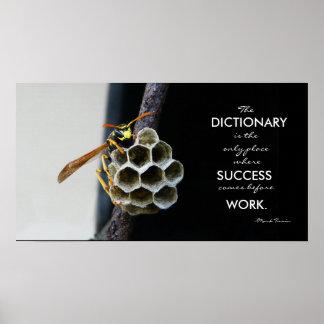 感動的な成功および仕事ポスター ポスター