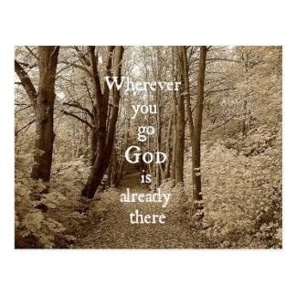 感動的な神は既にそこにキリスト教の引用文です ポストカード