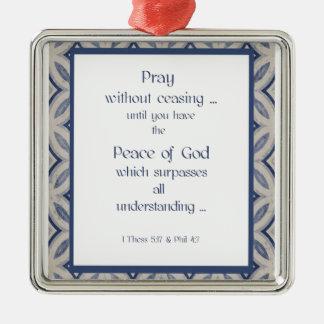 感動的な聖なる書物、経典を終えないで祈って下さい メタルオーナメント