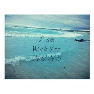 感動的な聖書の詩の海-私はあなたとあります ポストカード