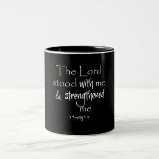 感動的な聖書の詩 ツートーンマグカップ