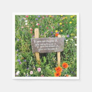 感動的な花のナプキン スタンダードカクテルナプキン