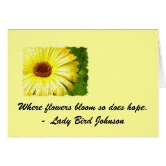 感動的な花Notecard カード