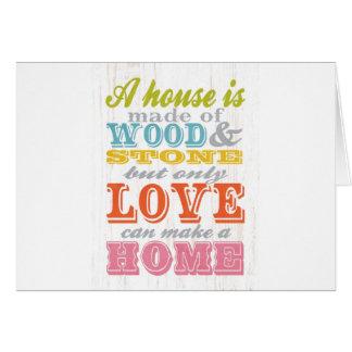 感動的な芸術-愛の家は家である場合もあります カード