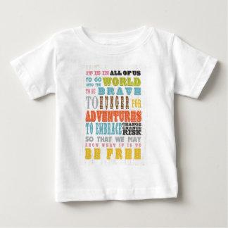 感動的な芸術-自由であるべきであるもの知って下さい ベビーTシャツ