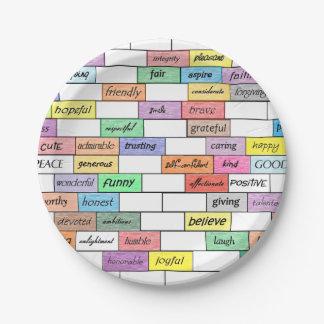 感動的な落書きの紙皿の虹 ペーパープレート