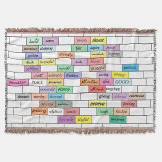 感動的な落書きの虹 スローブランケット