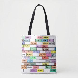 感動的な落書きの虹 トートバッグ