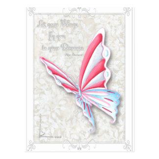 感動的な蝶引用文の郵便はがき ポストカード