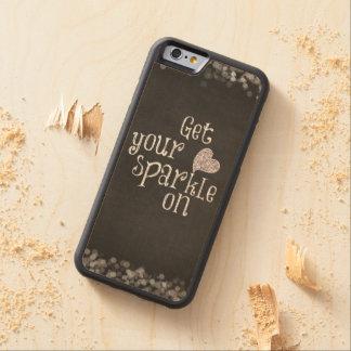 感動的な輝きの引用文 CarvedメープルiPhone 6バンパーケース