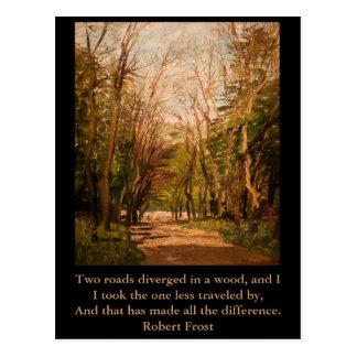 感動的な郵便はがきの引用文Robert Frost ポストカード