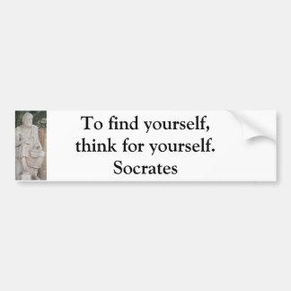 感動的なSocratesの引用文 バンパーステッカー