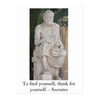 感動的なSocratesの引用文 ポストカード