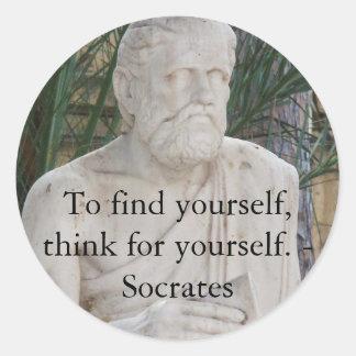 感動的なSocratesの引用文 ラウンドシール
