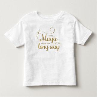 感動的少し魔法の引用文|のワイシャツ トドラーTシャツ