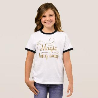 感動的少し魔法の引用文|の信号器のワイシャツ リンガーTシャツ