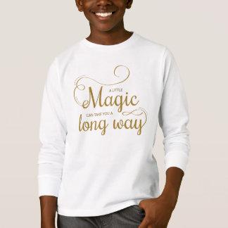感動的少し魔法の引用文|の袖のワイシャツ Tシャツ
