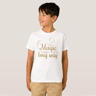 感動的引用文のTaglessの少し魔法のワイシャツ Tシャツ