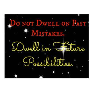 感動的間違いを過ぎて住まないで下さい。 ドエル ポストカード
