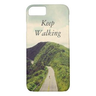 感動的、やる気を起こさせるな歩くことを引用文保って下さい iPhone 8/7ケース