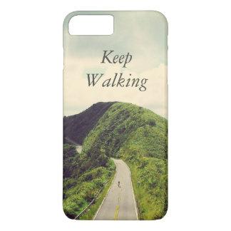 感動的、やる気を起こさせるな歩くことを引用文保って下さい iPhone 8 PLUS/7 PLUSケース