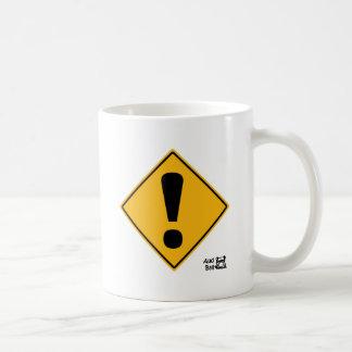 感嘆符の交通標識! コーヒーマグカップ