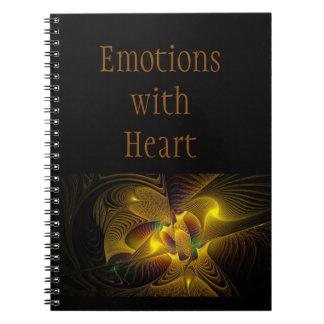 感情の螺線形の写真のノート ノートブック