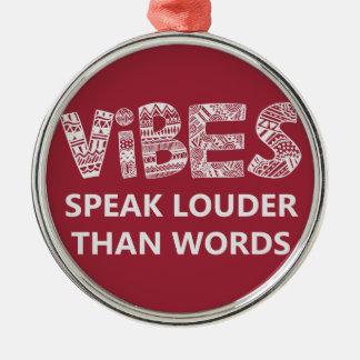 感情は単語より大声で話します メタルオーナメント