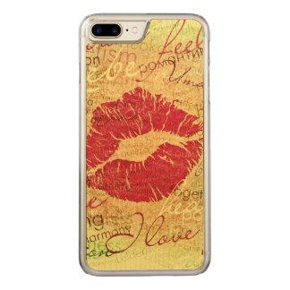 感情的なキスの赤 CARVED iPhone 8 PLUS/7 PLUS ケース