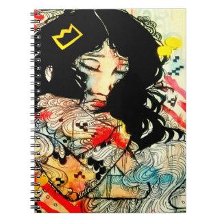 感情的な水彩画およびインク芸術のポートレートのスケッチ ノートブック