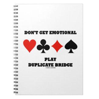 感情的な演劇の複写橋を得ないで下さい ノートブック