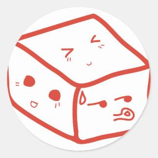 感情的な立方体 ラウンドシール