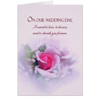 感情的な記念日の結婚式誓約はとの上がりました グリーティングカード