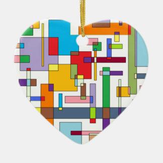 感情Iの色-色の芸術 セラミックオーナメント