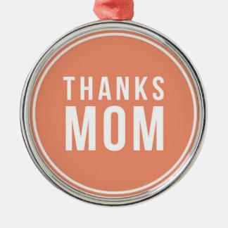 感謝お母さん メタルオーナメント
