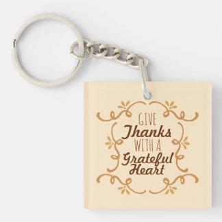 感謝したハートの感謝祭| Keychainを使って キーホルダー