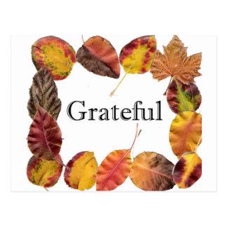 感謝したAutumの葉の組み立て ポストカード