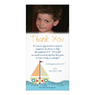 感謝していして下さい||赤ん坊|男の子|第1|誕生日|パーティ|フォトカード カスタマイズ写真カード