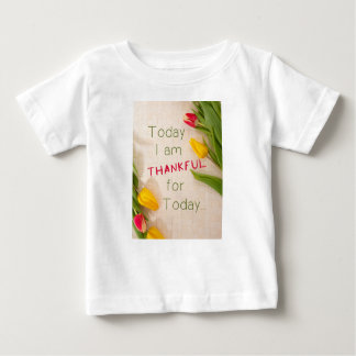 感謝しているやる気を起こさせるなQoutes ベビーTシャツ