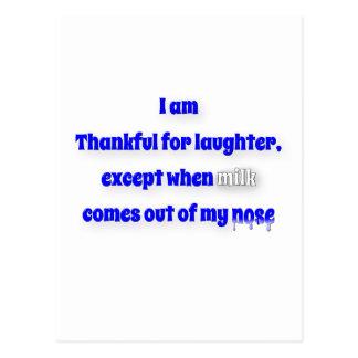 感謝している引用文-私は笑い声、excのために感謝しています… ポストカード