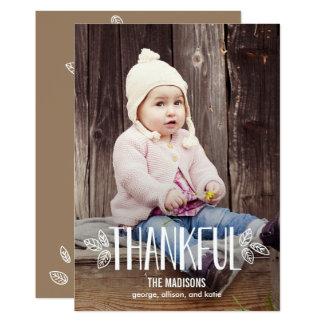 感謝している感謝祭の写真カードがあります カード