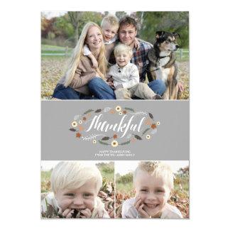 感謝している感謝祭の写真カード カード