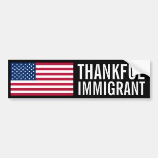 感謝している移民 バンパーステッカー