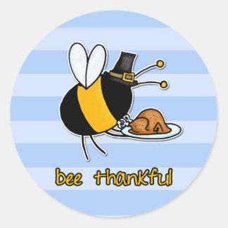 感謝している蜂 ラウンドシール